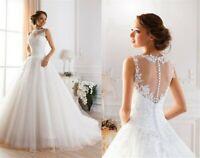 A-Linie Spitze Brautkleid Hochzeitskleid Kleid Braut Babycat collection BC823