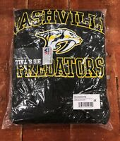 Nashville Predators Men's Big & Tall Heart & Soul Pullover Hoodie Charcoal NHL
