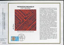 DOCUMENT CEF PREMIER JOUR  1981  TIMBRE   N° 2126 LA MICROELECTRONIQUE