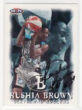 Rushia Brown Cleveland Rockers Furman Autographed Basketball Card