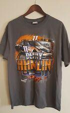 DENNY HAMLIN XL  NASCAR RACING FED-X GREY  Tee SHIRT