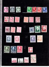 NORVEGE 1941-1982 : 31 timbres oblitérés