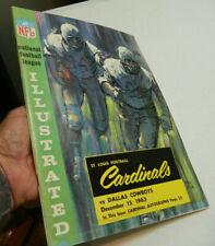 12/15/63 Dallas Cowboys at St Louis Cardinals Football Program Don Meredith