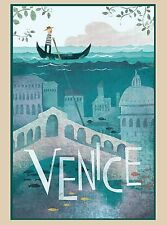 Venice Italy Italian Europe City of Water  European Travel Advertisement Poster