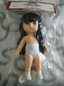 Fibrecraft Black Haired Cindy Doll 6 3/4 Inch