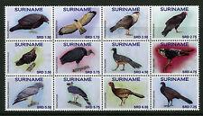 Suriname 2017 MNH Birds 12v Block Birds of Prey Falcons Bird Stamps