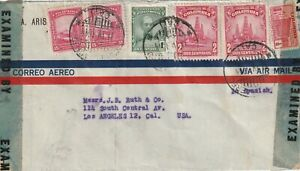 1944 Colombia censored cover sent to Los Angeles CA USA