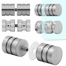 Stainless Steel Doorhandle Silver Handle Knob Shower Glass Door Bathroom Shiny