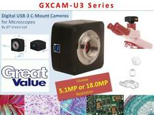 GXCAM 5MP USB-3 Superfast, C-Mount Microscope Camera w/Full Software Package