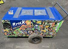 Vendor Ice Cream Push Cart With Graphics Brisk Iced Tea Mango Artist Mr Kone