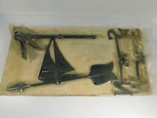 Vintage Weather Vane Black Sailboat Sailing Ship by Whitehall New Old Stock