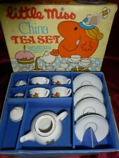 Vintage LITTLE MISS CHINA TEA SET Boxed Miniature Roger Hargreaves 1982 MR MEN