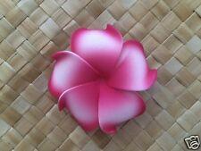 """3"""" Hawaiian Plumeria Foam Flower Hair Clip  Pink  White"""
