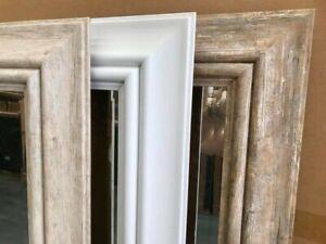 Hamptons beachy driftwood bevel edge wall mirror 95 x170