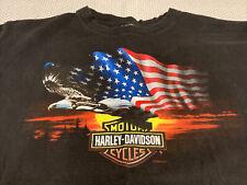 Vintage Harley Davidson 2002 Eagle Flag America Patriotic T-Shirt XL USA C16