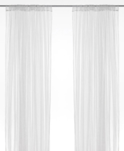 New IKEA LILL 1 Packs 2 Pair Sheer Lace Curtains WHITE (Netted)