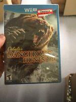 Cabela's Dangerous Hunts 2013 for Nintendo Wii U Brand New! Factory Sealed!