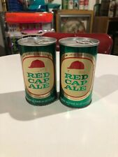 Pair Of Carling Red Cap Ale S/S Beer Cans ~ Canadian