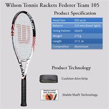 WILSON FEDERER TEAM 105 4 3/8 STRUNG TENNIS RACQUET- (MULTICOLOUR)
