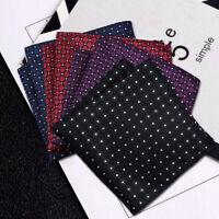 4 Color Men's Vintage Handkerchief 100% Silk Man Pocket Square Suit Hanky cvf