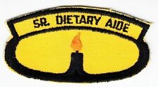 SENIOR DIETARY AIDE - Vintage MEDICAL PATCH