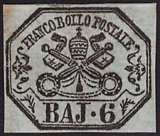 STATO PONTIFICIO 1852 - 6 Baj n. 7 NUOVO CERTIFICATO FERRARIO € 1.800