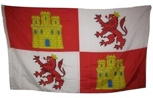 3x5 Castile Leone Castles and Lions Rough Tex Knitted Flag 3'x5' Banner