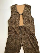 Woman's Pant Suit Leopard Print with Slacks and Skirt XL by JONES NEW YORK
