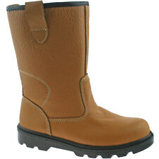 GRAFTERS STEEL TOE SAFETY RIGGER BOOTS SIZE UK 3 - 15 FUR LINED WORK M020BSM KD