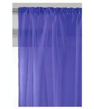 Rideaux et cantonnières bleus en voile pour le séjour
