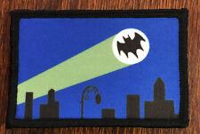Batman Bat Signal Morale Patch Tactical Military USA Hook Badge Army Flag