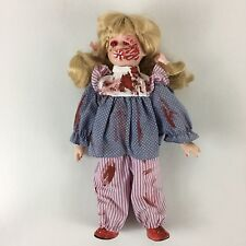 "Possessed Creepy Doll Halloween Haunted Prop Ooak Terror Porcelain Doll 14"""