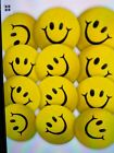 """36 SMILE SMILEY FACE STRESS RELIEF BALLS 2"""" FOAM HAND THERAPY SQUEEZE TOY BALL"""