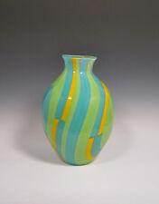 BENDINI GLASS Colorful Blown Glass Vase - Super Unique One of a Kind!