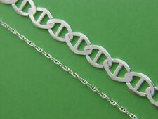 Real 925 Sterling Silver Anchor Chain Necklace Real Solid Silver Wholesale price