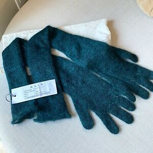 MARNI Double Layer Women's Mohair Long Gloves, Size 7.5