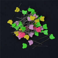 50pcs Hemline Flower Head Pins Long Sewing Dressmaking Quilting Patchwork IronLJ