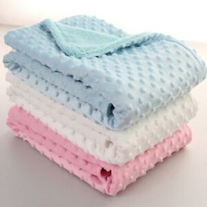 Super Soft Flannel Baby Sleeping Blankets Baby Boys Girl Towl Bubble Blanket New