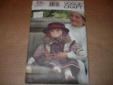 "Vogue Craft Pattern 8798  27"" Little Friend Doll & Outfit ~ Linda Carr Design UC"