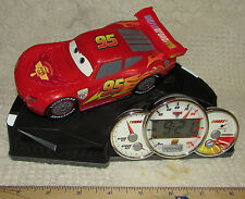"CARS 2 Digital ALARM CLOCK With SOUND & MOTION #95 WORKS World Grand Prix 5""Tall"