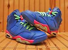 2013 Nike Air Jordan VI 6 Retro Size 5Y-Game Royal White Pink Green- 543390 439