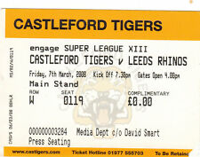 Castleford Tigers Rugby League Tickets & Stubs
