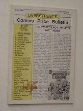 Fanzine Overstreet'S Comic Price Bulletin - Winter 1987