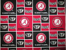 1/2 Yard University of Alabama Crimson Tide Patch Cotton Sykel NCAA Football
