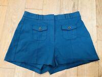 Women's RIVER ISLAND Summer Shorts Skort Size 12 Blue Immaculate