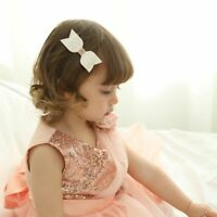 3 Pcs Mermaid Hair Bows Glitter Hair Clip Leather Princess Party Headdress