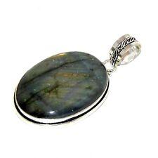 Bijou argent 925 pendentif pierre labradorite pendant idéal pour cadeau