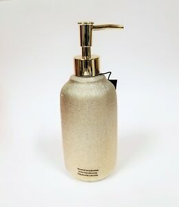 NEW J.QUEEN METALLIC PALE GOLD CHAMPAGNE CERAMIC SOAP DISPENSER