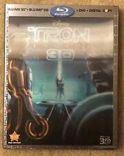 Tron: Legacy 3D (Blu-ray/DVD, 2011, 4-Disc, Digital Copy 3D) NEW Disney 3D OOP