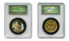 AARON RODGERS NFL Packers Colorized JFK Half Dollar U.S. Coin in Slabbed Holder